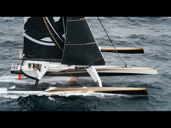 This giant 40 knot trimaran is out to smash the round the world record