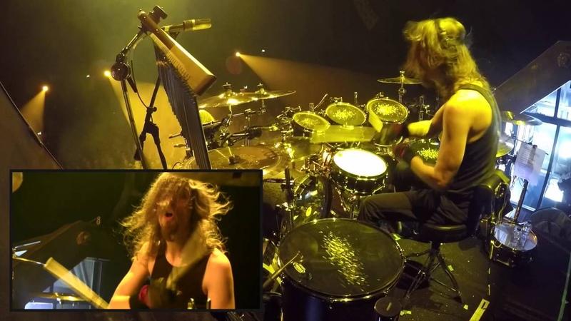 Megadeth Dirk Verbeuren drumcam The Threat Is Real live in Groningen 2016