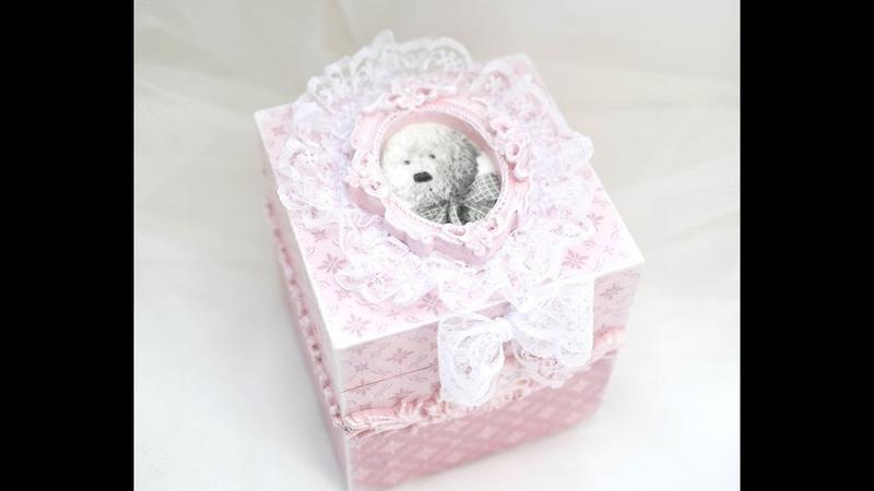 Mała szkatułka dla małej księżniczki - tutorial decoupage